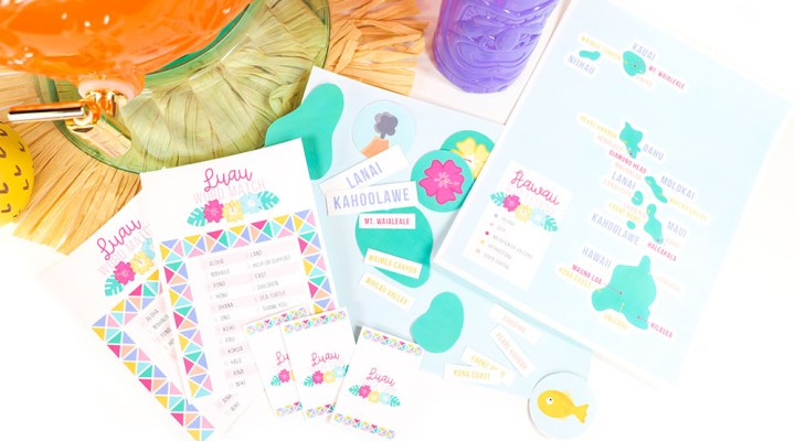Download these 3 FREE Printable Luau Party Games from Printable Crush