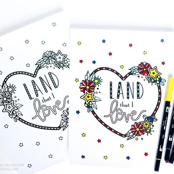 Land That I Love Fourth of July Coloring Page