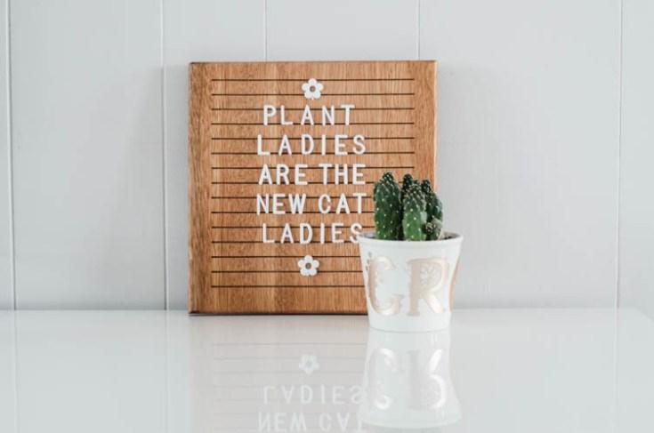 Floral Monogram DIY Pennant + Metallic Grow Plant Pot