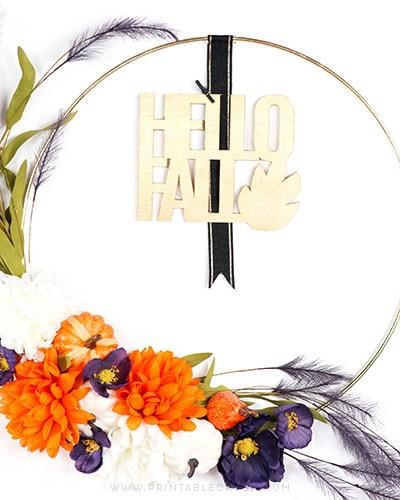 Halloween Thanksgiving and DIY Fall Wreath Tutorial