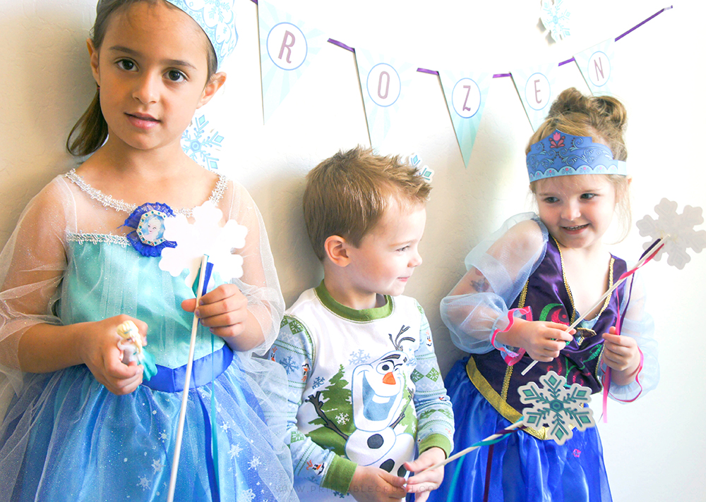 Frozen Crown and Masks Printables