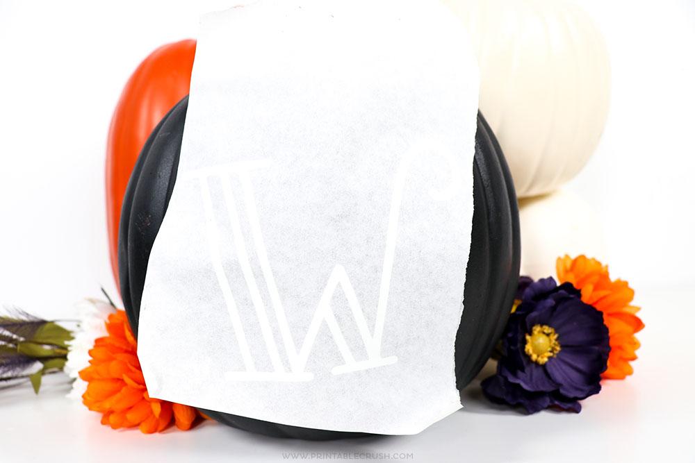 Use transfer sheets to make a vinyl pumpkin