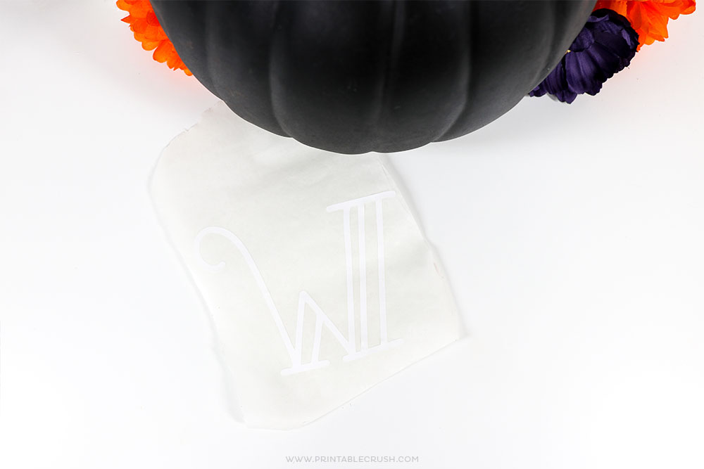 Use transfer sheets to make a vinyl pumpkin