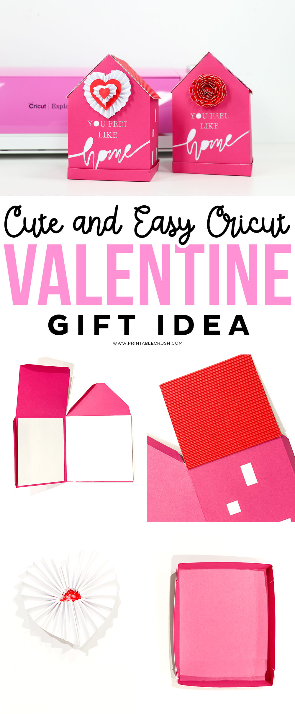 """You Feel Like Home"" Cute and Easy Cricut Valentine's Day Gift Idea"