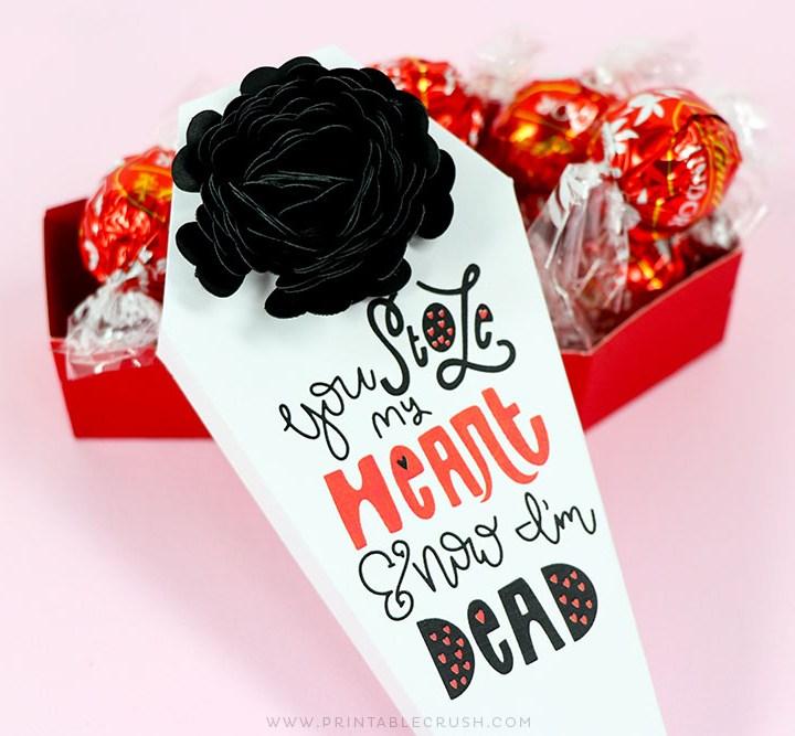 Free Valentine SVG File for someone with a morbid sense of humor