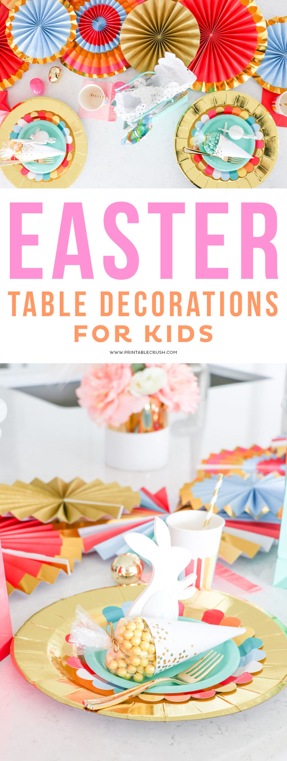 Easter Kiddie Table Decorations