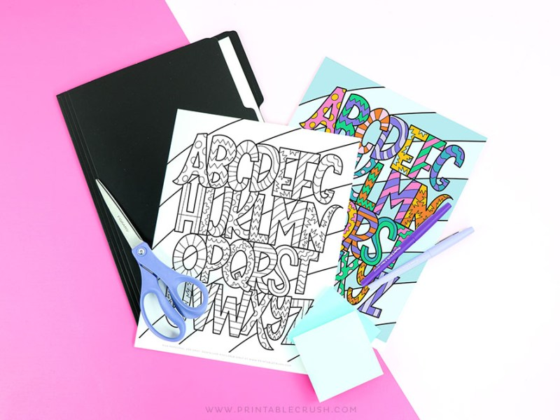 Free Printable Alphabet Coloring Page