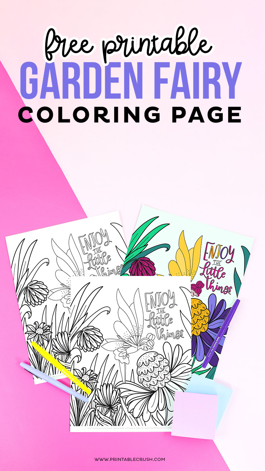 Free Printable Garden Fairy Coloring Page - download now