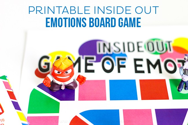 Inside Out Game of Emotions At Home Printable Activities for Kids