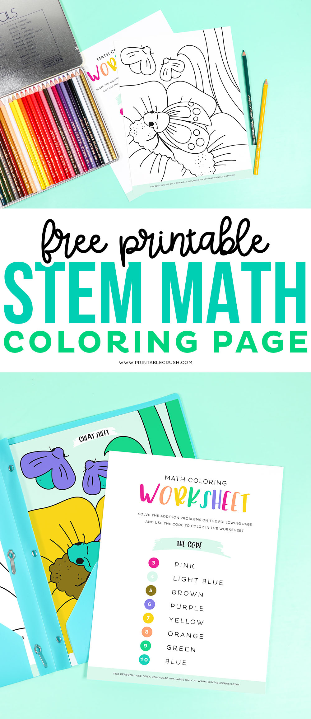 Math Coloring Worksheets- Printable Crush