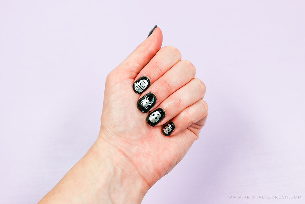 Vinyl Halloween Nail Designs