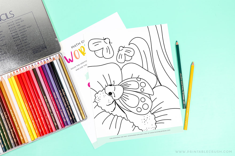 Bug Coloring Page - Printable Crush - Math STEM Activity