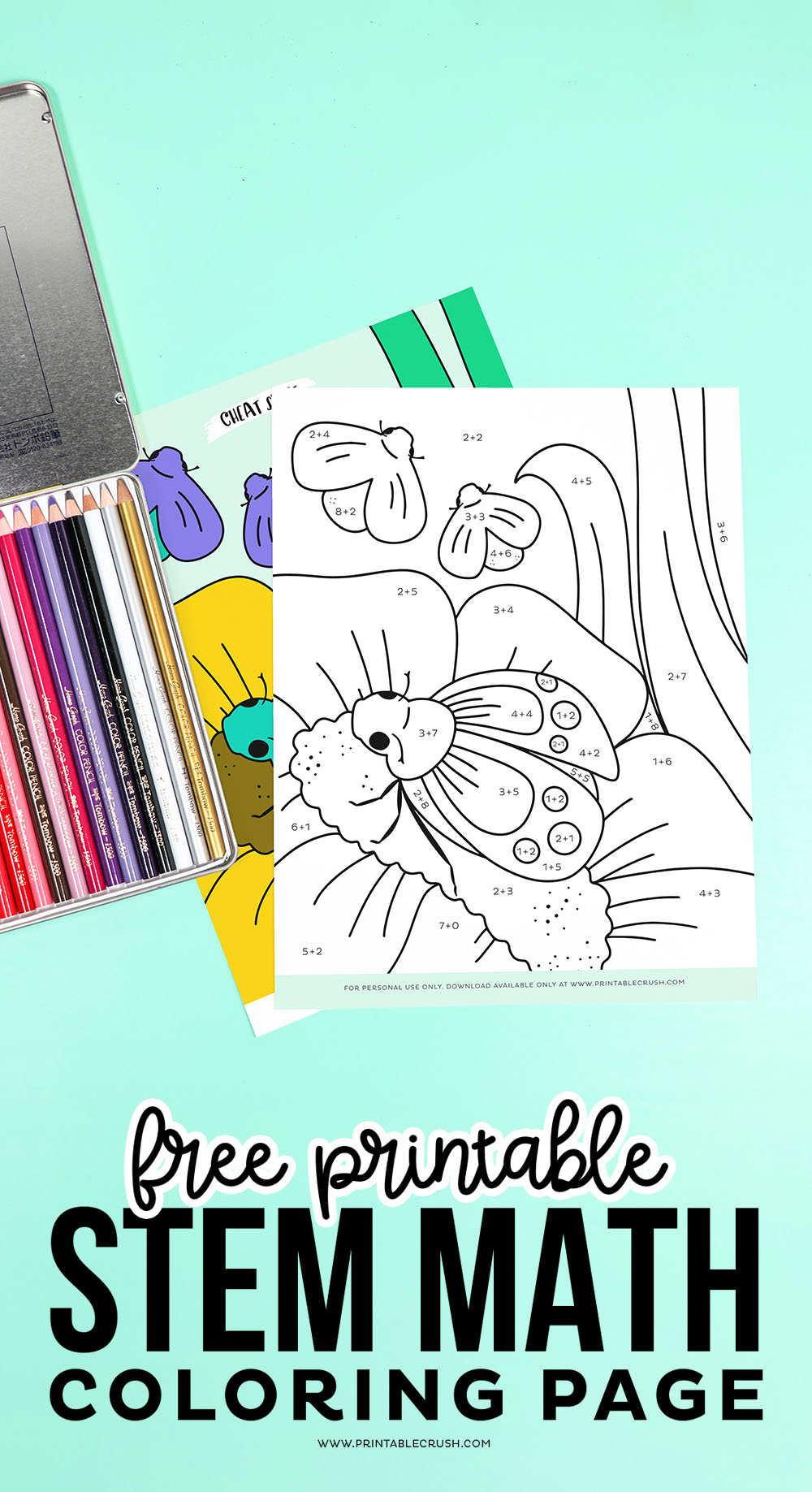 STEM Math Coloring Worksheet - Free Printable