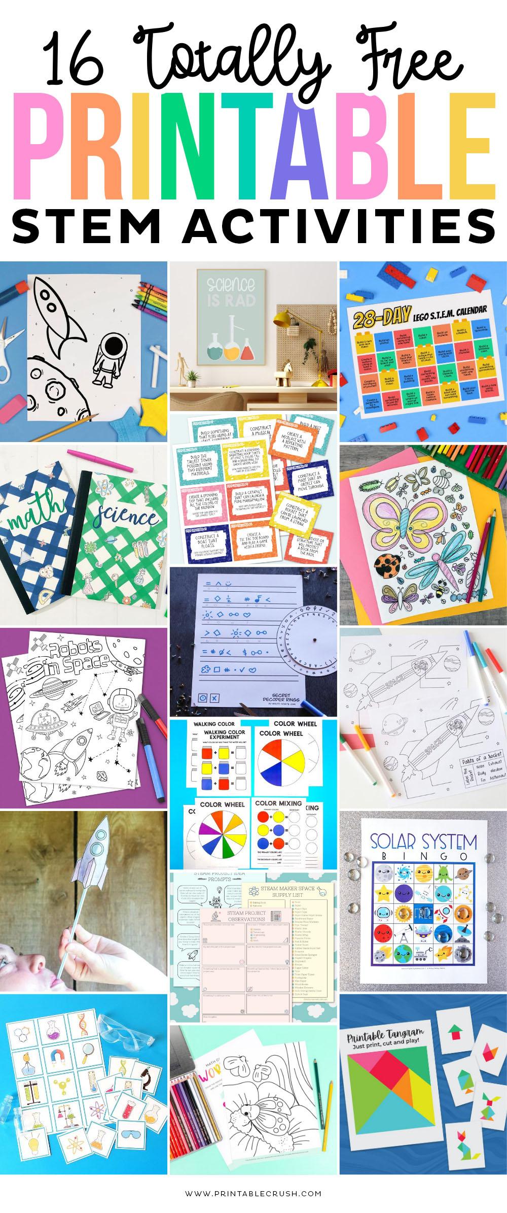 16 FREE STEM Printables