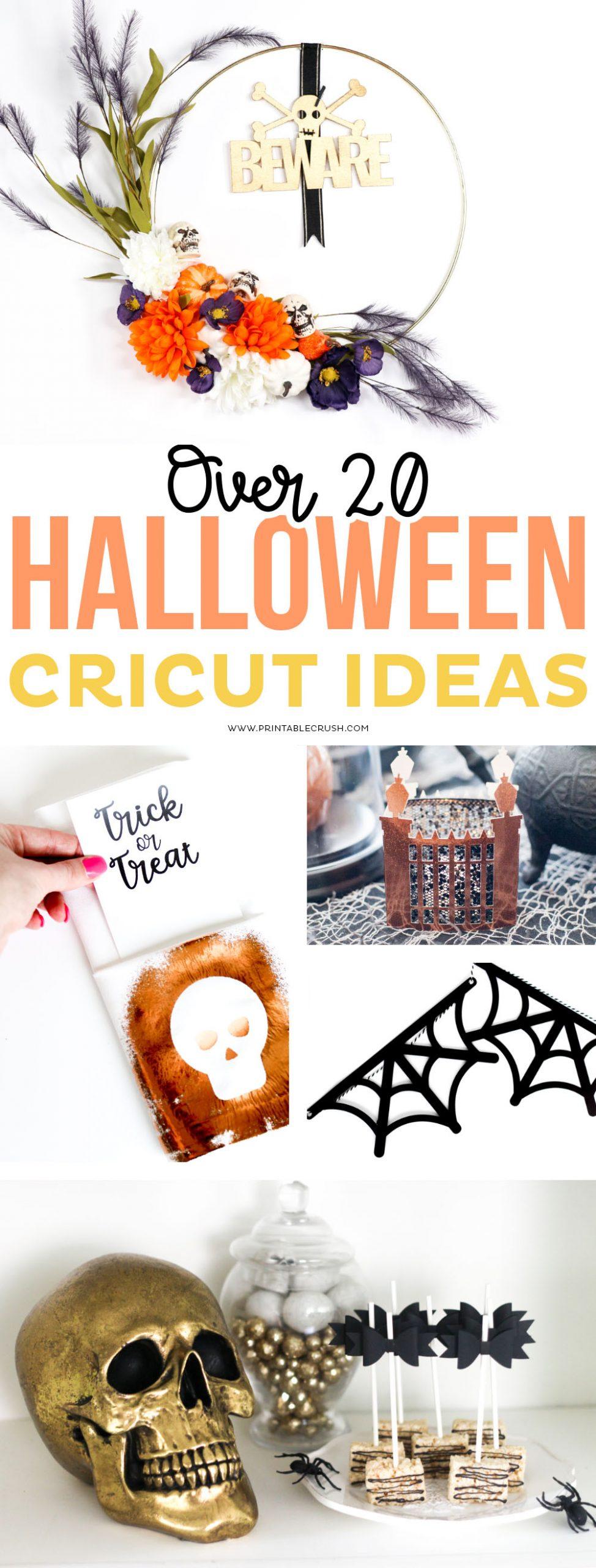 Classy Halloween Cricut Ideas for Halloween decor, Halloween parties, DIY Halloween Tutorials - Printable Crush