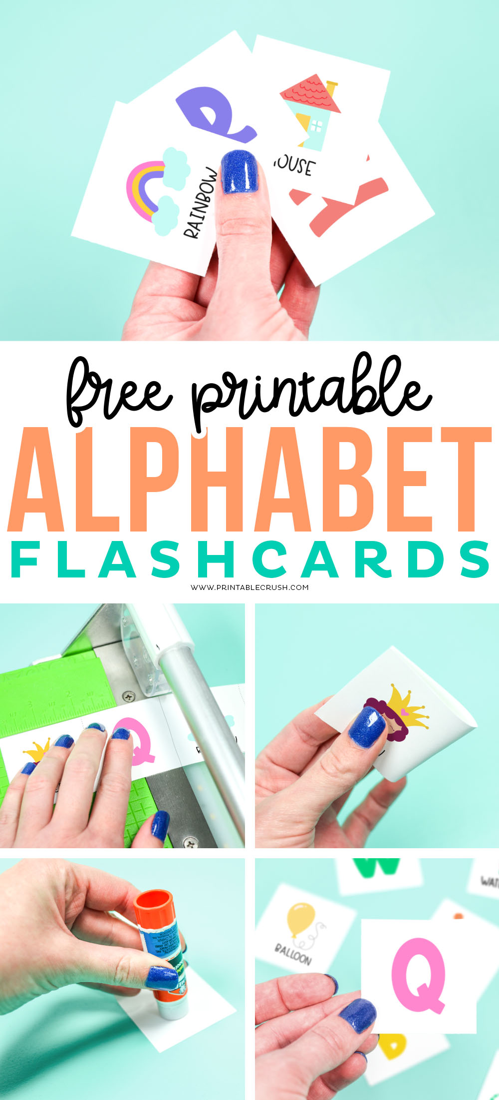How to make Alphabet Flashcards - Printable Crush
