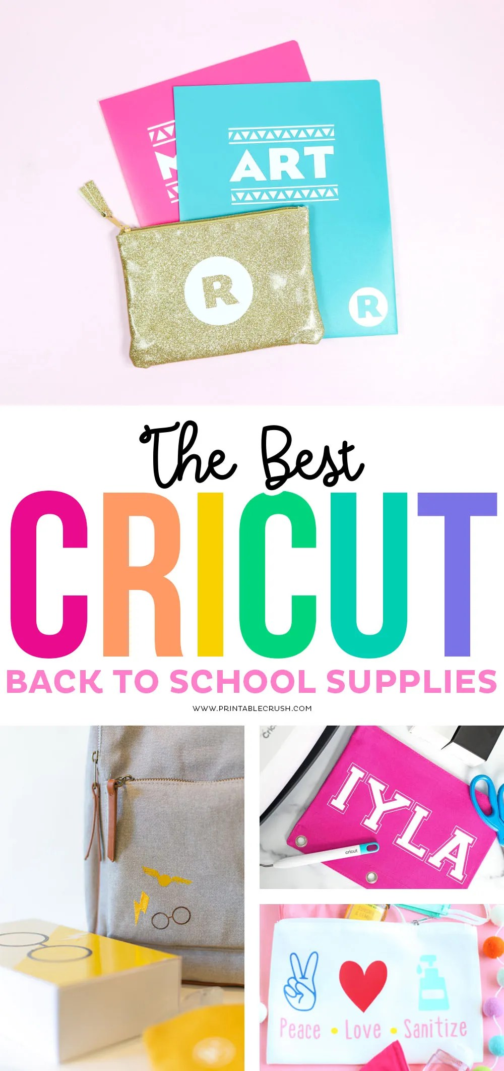 The BEST Cricut Personalized Back to School Supplies - Printable Crush #cricutcreated #backtoschool #cricutcraft #printablecrush #cricut #kidcrafts #cricutkidcraft #schoolcrafts #schoolsupplies via @printablecrush
