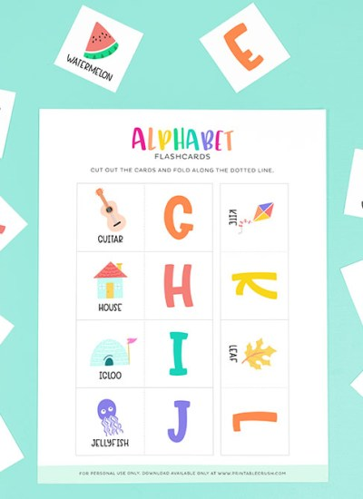 free abc flashcards