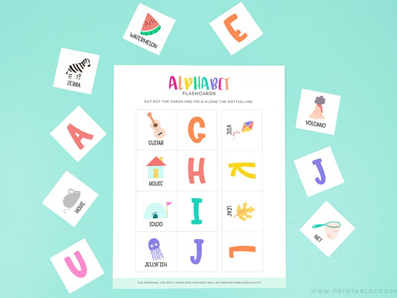 free abc flashcards