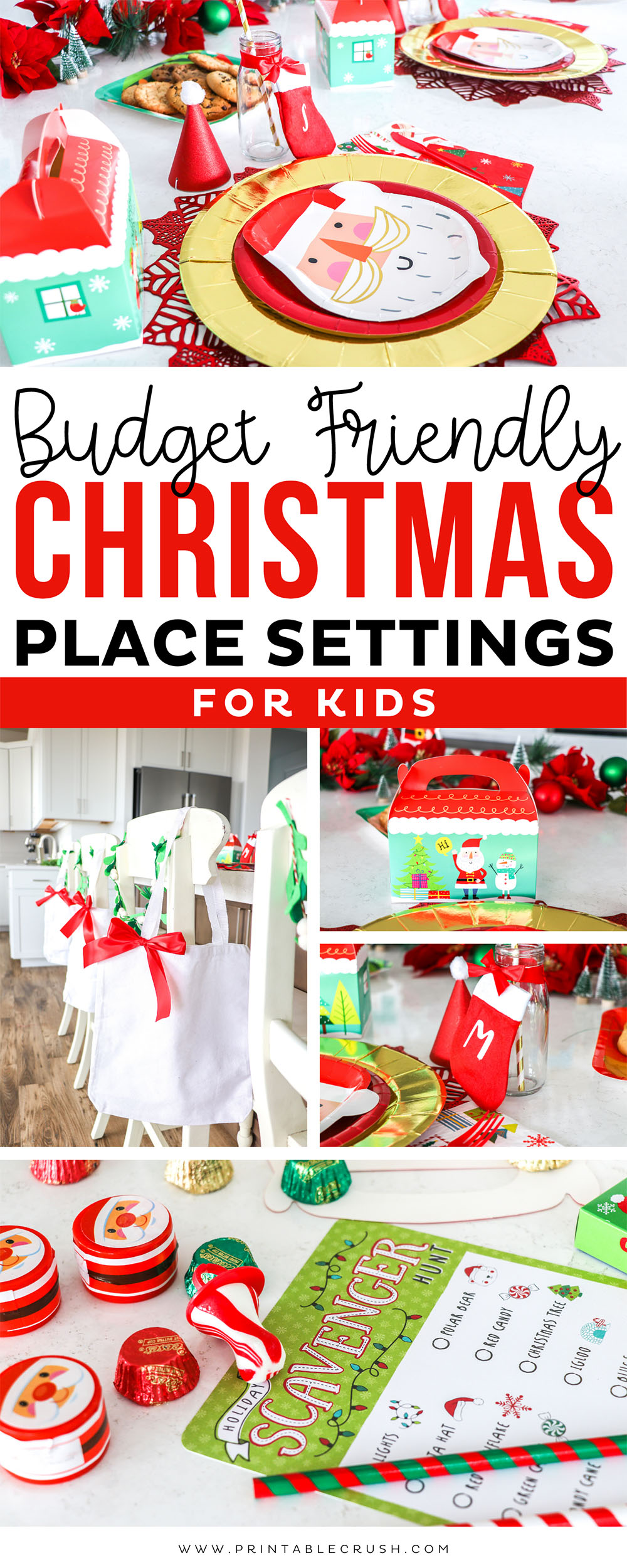 Budget Friendly Christmas Place Settings for Kids - Christmas Place Settings - Holiday Place Settings - Christmas Party Ideas