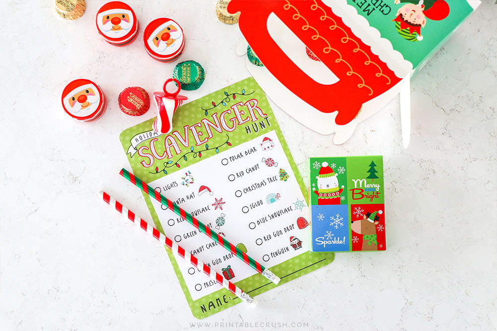 Christmas Stocking Stuffers - Holiday Stocking Stuffers - Christmas party favors - Holiday Party Favors - Christmas Candy - Christmas Activities for Kids - Printable Crush