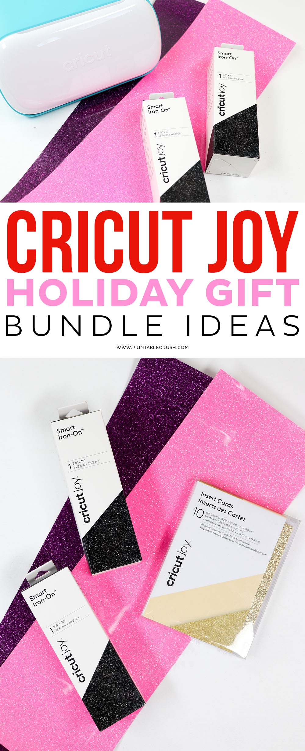 Cricut Joy Holiday Gift Bundle Ideas - Cricut Holiday Gift Bundle - Cricut Gift - Cricut Joy Gift - Printable Crush