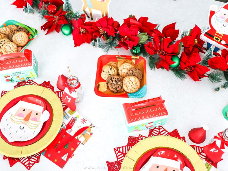 Kids Christmas Place Setting Ideas - Christmas Place Settings for Kids - Budget Friendly Christmas Party Ideas - Printable Crush