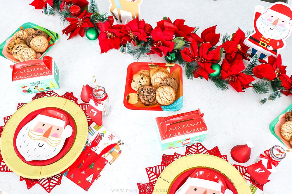 Kids Christmas Place Setting Ideas - Christmas Place Settings for Kids - Budget Friendly Christmas Party Ideas - Printable Crush