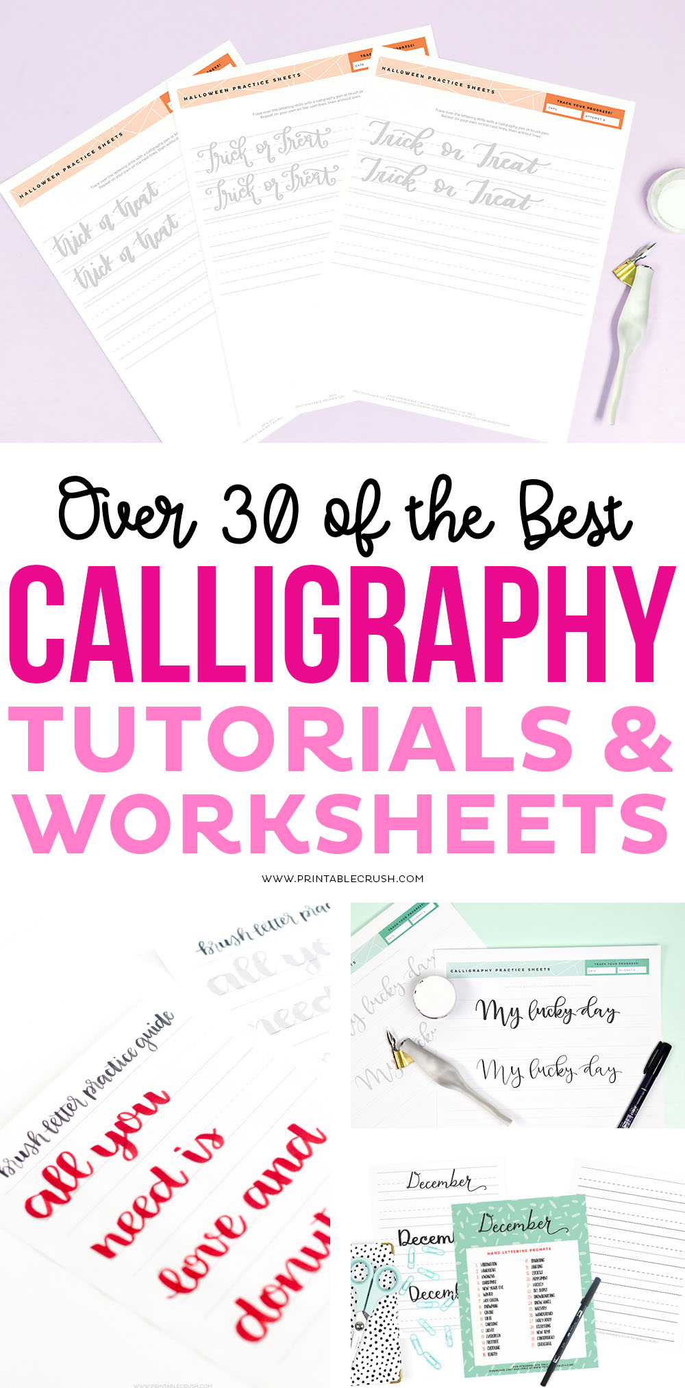 The Best Holiday Calligraphy Practice Sheets