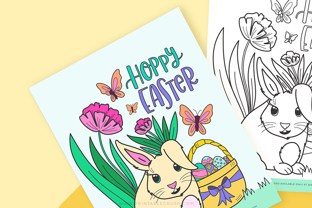 Coloring Page for Easter - Easter Free Printable Activity for Kids - Printable Crush