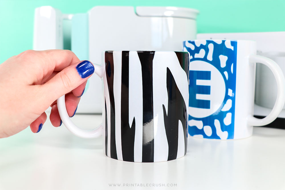 DIY Zebra Mug Tutorial - DIY Mug - Infusible Ink Tutorial - Printable Crush