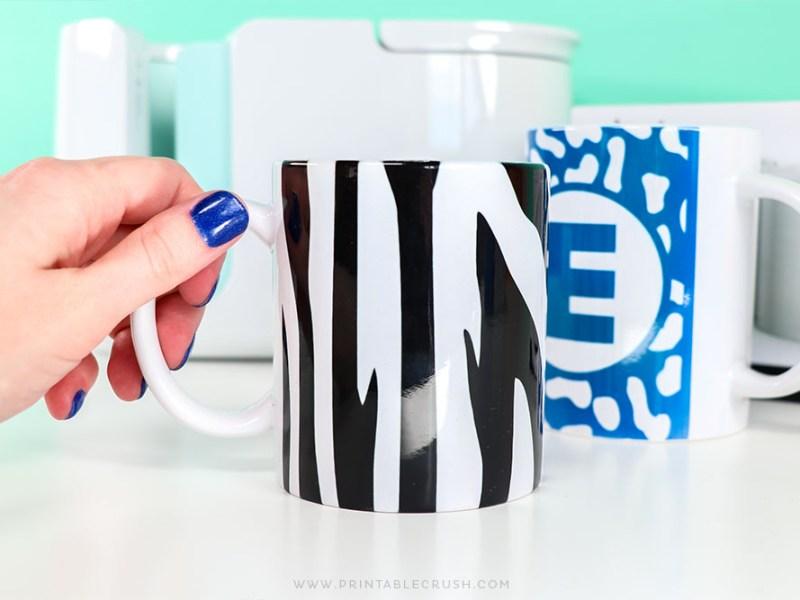 DIY Zebra Mug Tutorial - DIY Mug - Infusible Ink Tutorial - Printable Crush