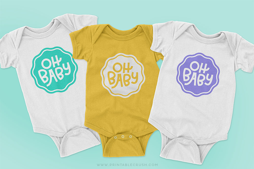 Baby Shower SVG Files - Baby Bodysuit crafts - Printable Crush