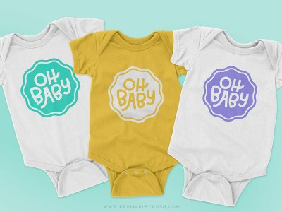 Baby Shower SVG Files - Free Baby SVG File - Printable Crush