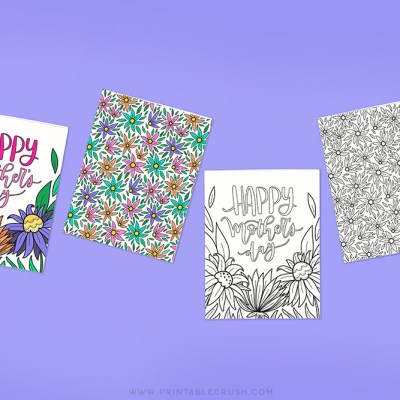 Download these free printable Mother's Day Coloring Cards - Printable Crush