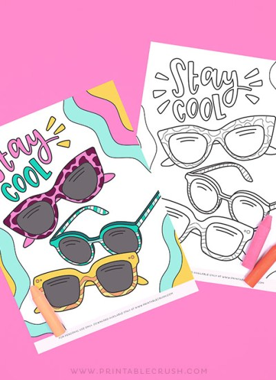 Free Coloring Page for Summer Activities - Printable Crush Coloring Page - Summer Coloring