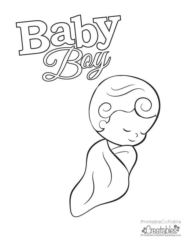 Baby Boy Free Printable Coloring Page