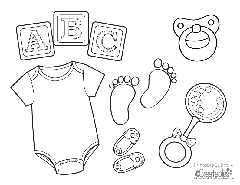 Baby Onesie Free Printable Coloring Page