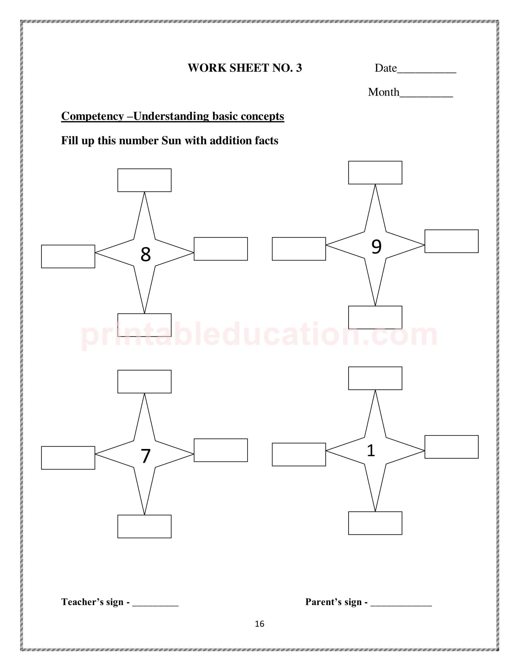 25 Math Addition Worksheets For Kids