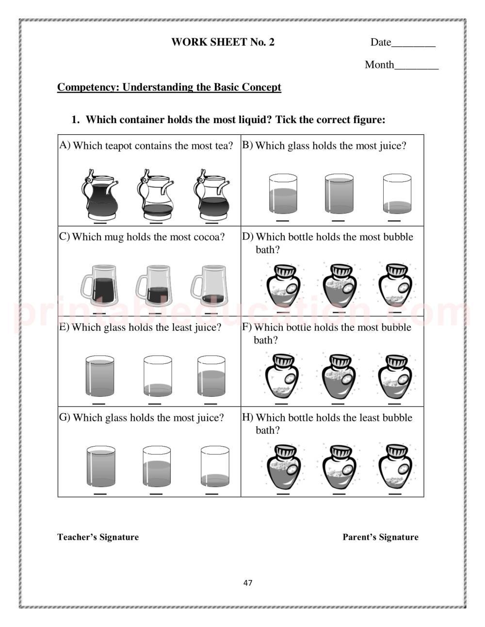 medium resolution of Measurement Worksheet \u0026 Games For Kids   PrintablEducation