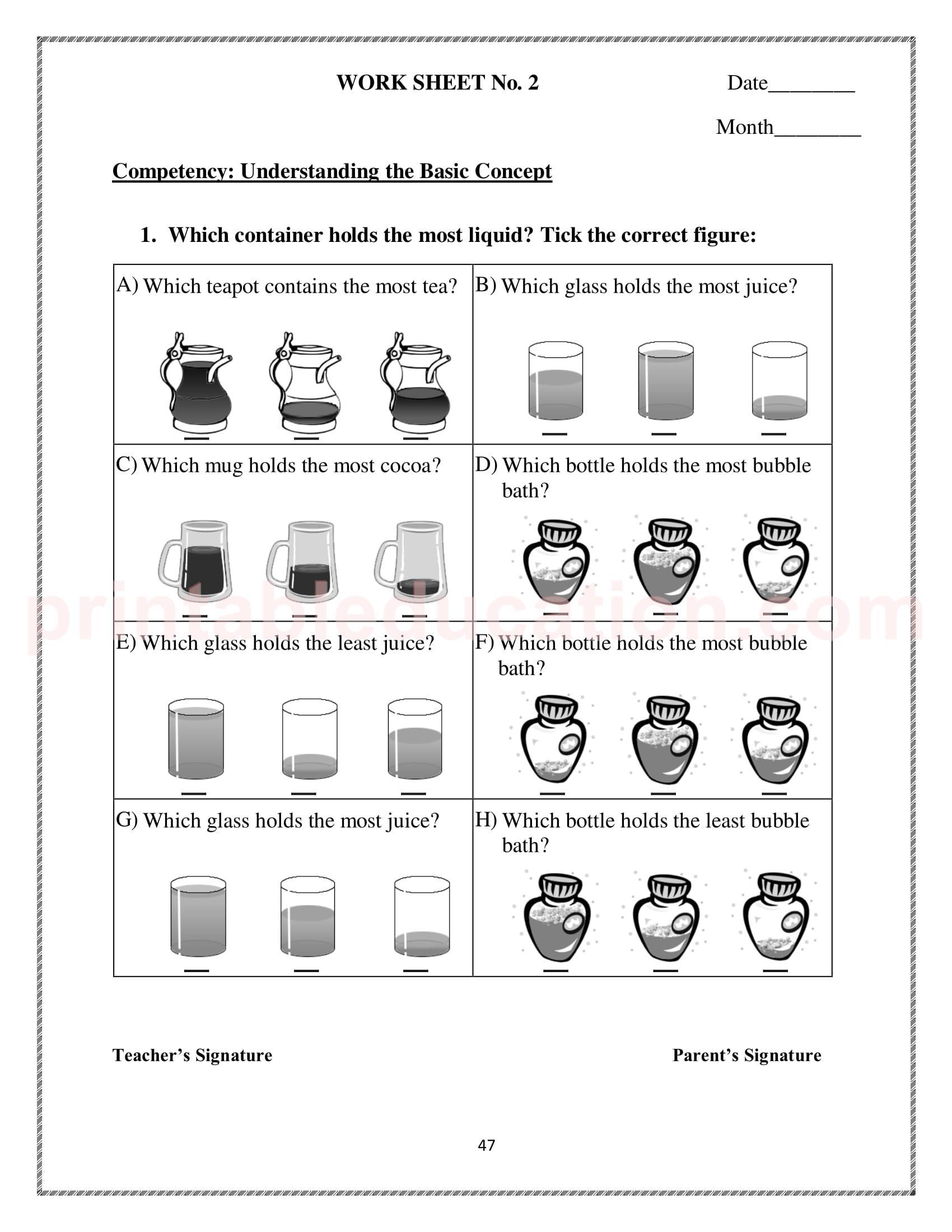 hight resolution of Measurement Worksheet \u0026 Games For Kids   PrintablEducation