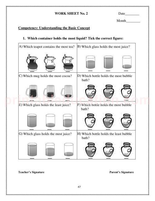 small resolution of Measurement Worksheet \u0026 Games For Kids   PrintablEducation