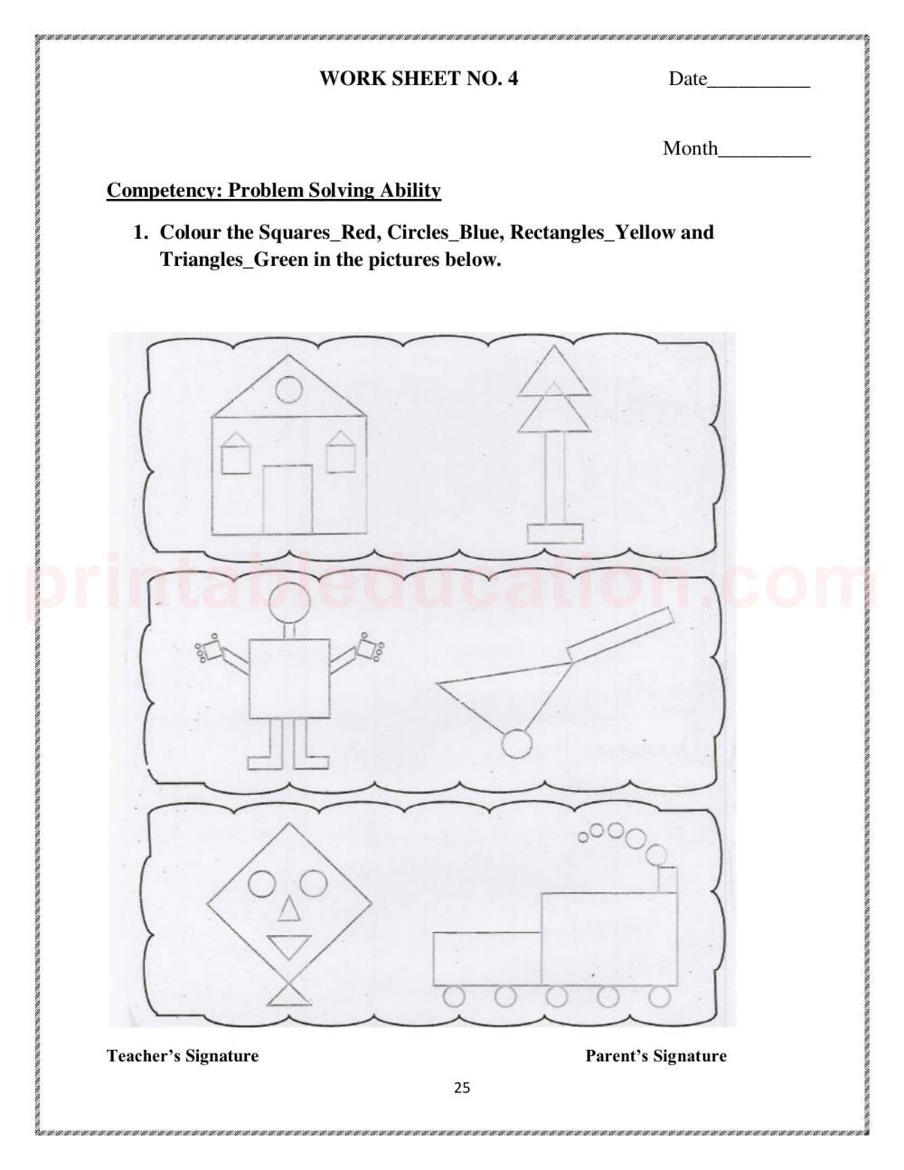 medium resolution of Basic Math Shapes Worksheets For Kids   PrintablEducation