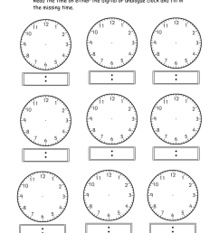 Telling Time Clock Activity Worksheets   PrintablEducation [ 1700 x 1201 Pixel ]