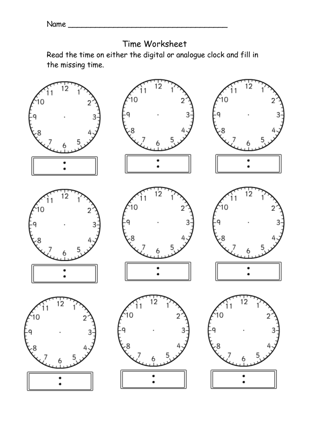 medium resolution of Telling Time Clock Activity Worksheets   PrintablEducation