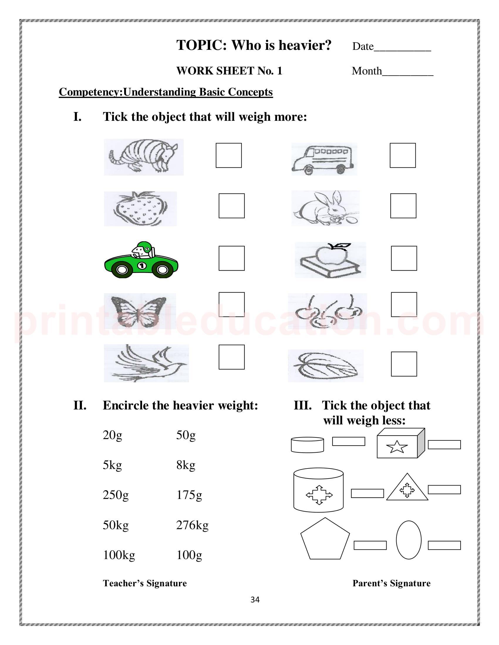 Mathematics Worksheets For Class 3 Kids
