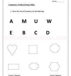 Symmetry Worksheet 3rd   Printable Worksheets and Activities for Teachers [ 2200 x 1700 Pixel ]