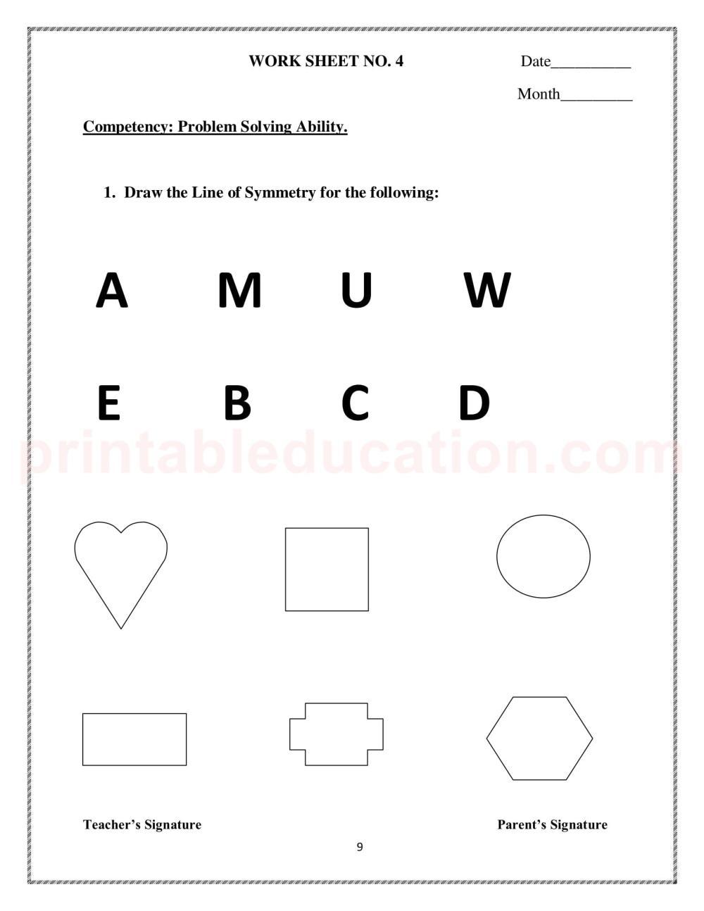 medium resolution of Symmetry Worksheet 3rd   Printable Worksheets and Activities for Teachers