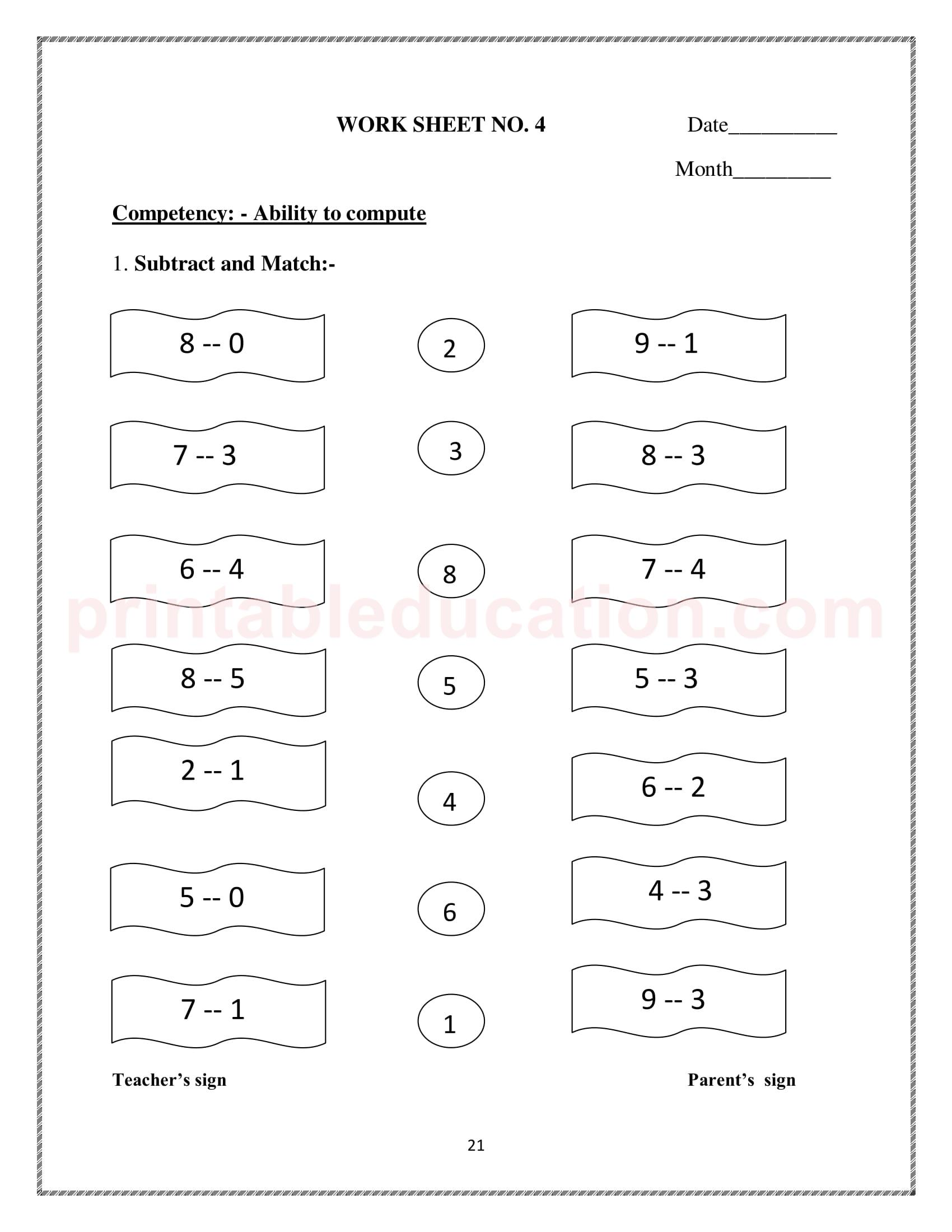 hight resolution of Grade One Mathematics Worksheet For Kids   PrintablEducation