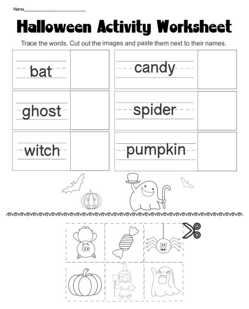 small resolution of 4 Best Halloween Worksheets Printables - printablee.com